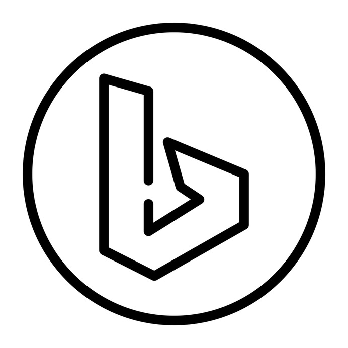 See more icon inspiration related to bing, brands and logotypes, brand, logos, logotype, logo, social network and social media on Flaticon.