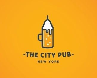 The City Pub by nikola #logo #city #ny #pub #logos