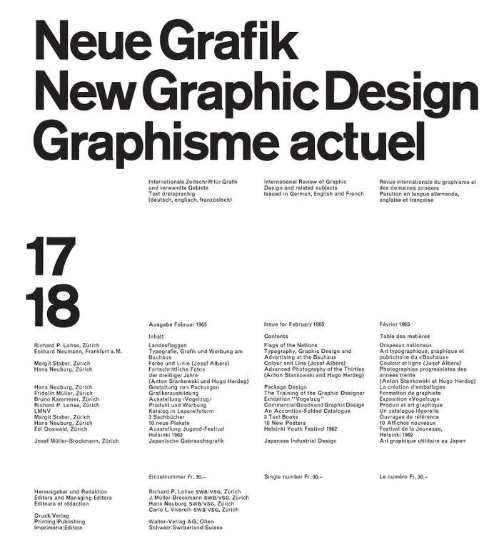 Neue Grafik by Josef Müller-Brockmann #brockmann #neue #grafik #muller #josef #typography