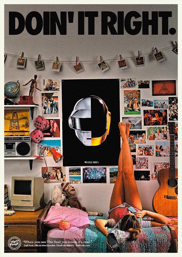 Retro Daft Punk Posters to Promote Objects