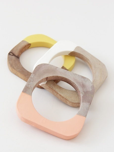 Pinned Image #wood #dipped #bangles