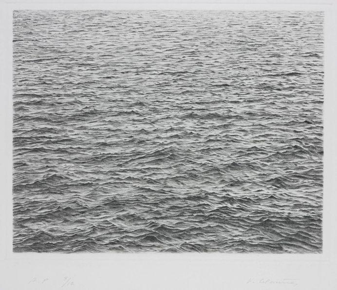 'Drypoint - Ocean Surface', Vija Celmins, 1983 | Tate