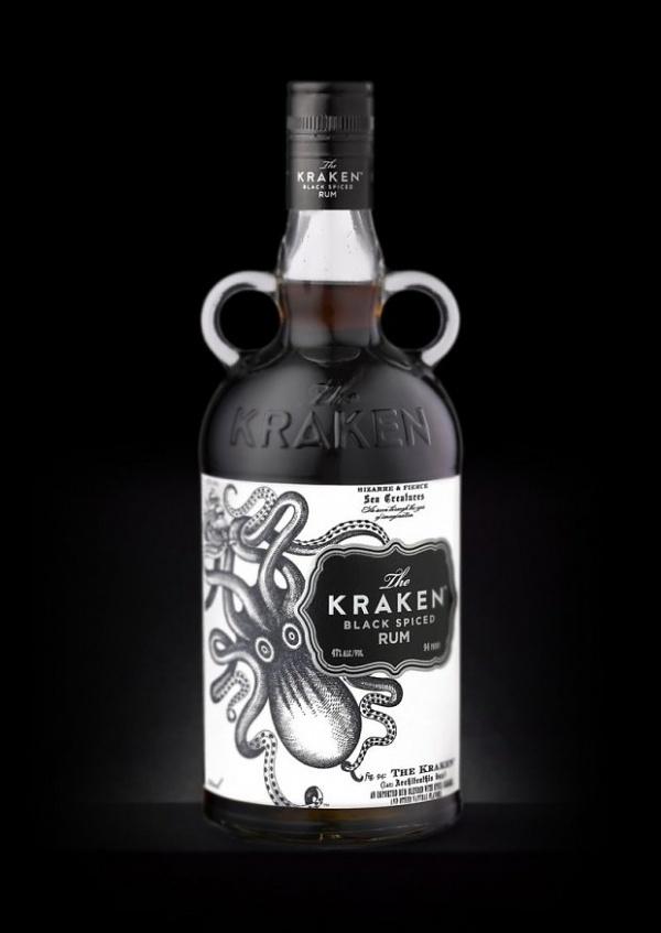 Kraken Rum, una joya de diseño   25 Horas #packaging #kraken