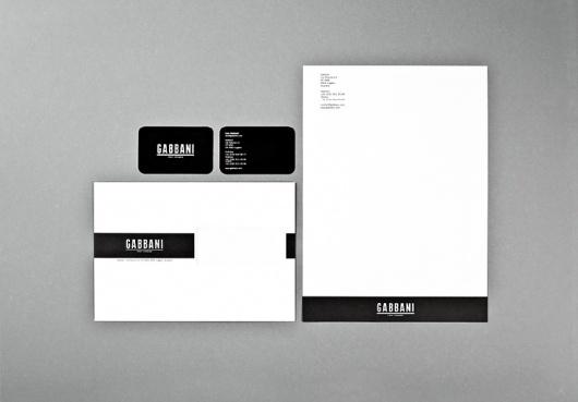 Gabbani stationary : DEMIAN CONRAD DESIGN #stationary #business #card #identity #letterhead
