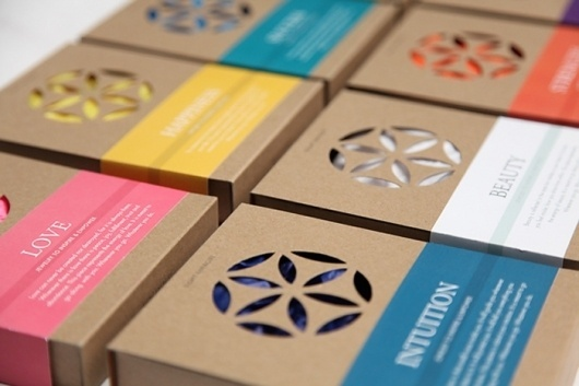 EightEnergy - TheDieline.com - Package Design Blog #die #cut #cardboard #color #simple #identity #spectrum #logo #band