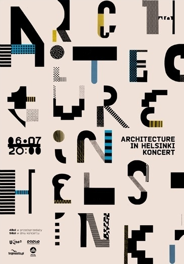 plakat aih typo poster by aleksandra niepsuj #design