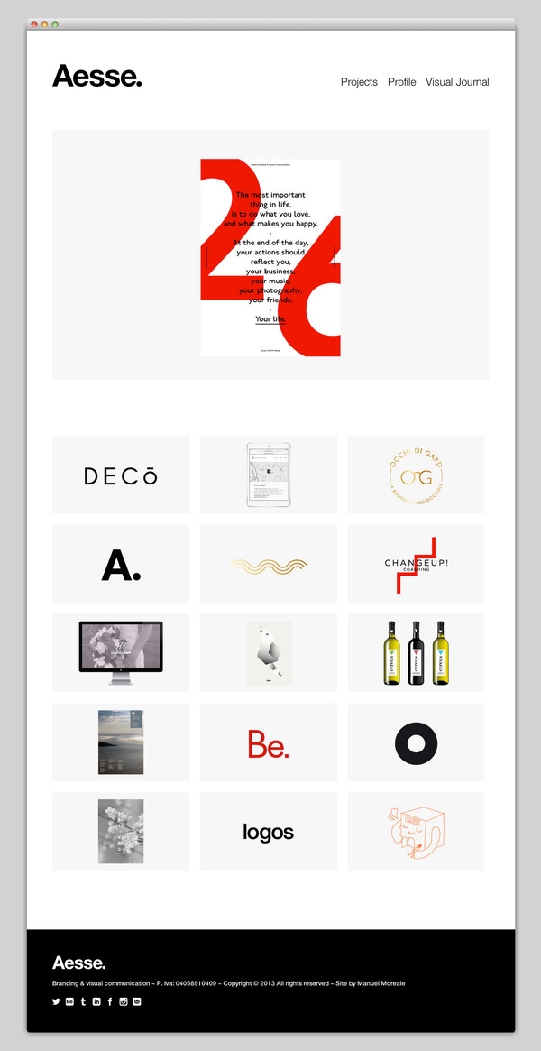 Aesse #website #layout #design #web
