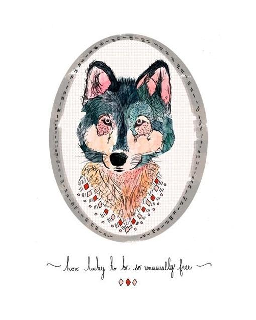 Design Work Life » cataloging inspiration daily #ilustration #animal #wolf