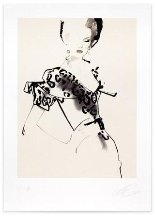 David Downton - Fashion Illustration - Stop Press! 2011 #white #black #women #illustration #art #and #fashion