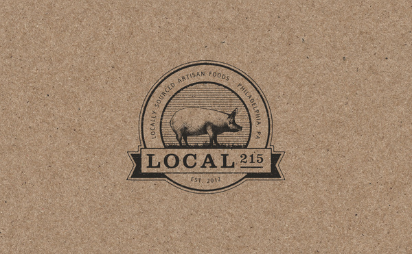 Local 215 by R&Co. Design #emblem #pig #logo #illustration #type #drawing #sketch #typography