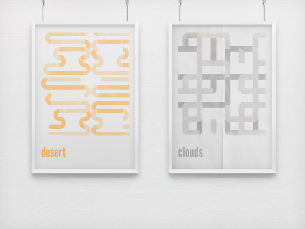 Minimal Retro Posters on the Behance Network #frame #retro #minimal #poster #layout