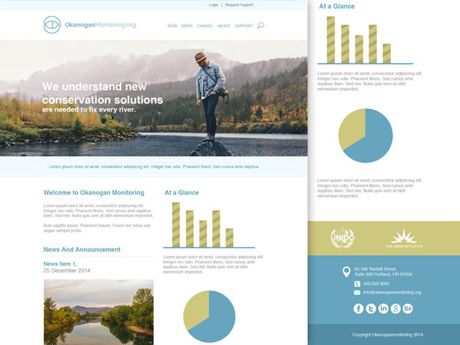 Free Company Landing Page PSD Template