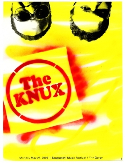 GigPosters.com - Knux, The #lundberg #sparypaint #screenprint #chad #poster
