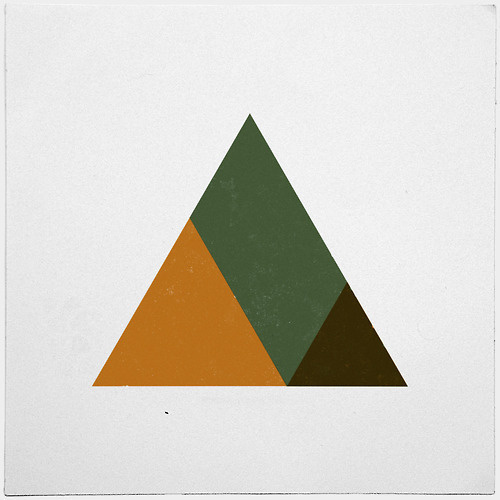 #381 Mountain top – A new minimal geometric composition each day