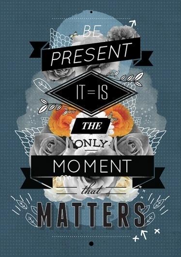 The Present Art Print by Matthew Kavan Brooks | Society6 #collage #typography