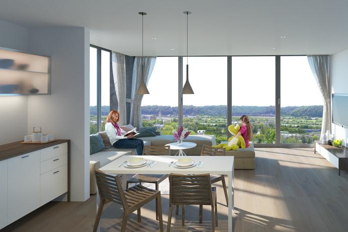 Apartment on the hill - dizonaurai #render #arch