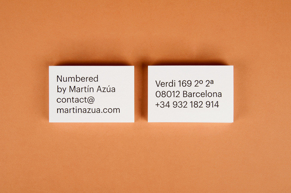 P.A.R Numbered by Martín Azúa #card #print #business