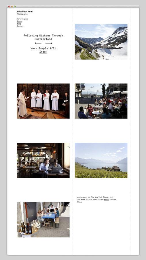 Elisabeth Real #site #design #website #photography #layout #web