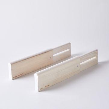 Adjustable Wooden Drawer Dividers (Set of 2)