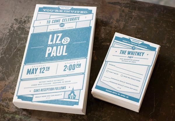 lovely-stationery-liz-and-paul1 #invitation #print #paper #wedding #typo
