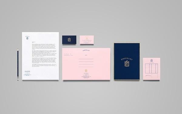 Anagrama corporate branding — Pink #pink #branding #stationery
