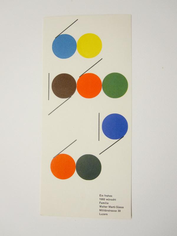 New Year Card, 1960: #print #geometic