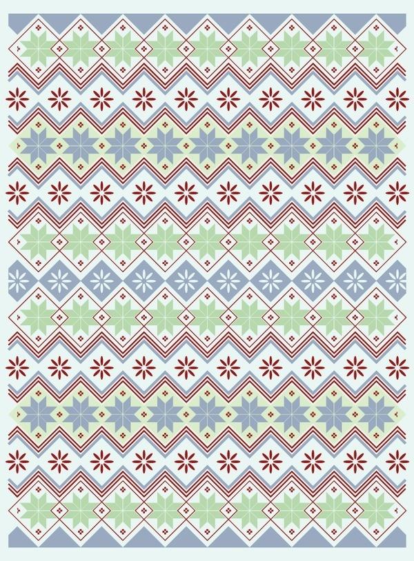 nordic02 #pattern #nordic #tribal #scandinavian #flowers