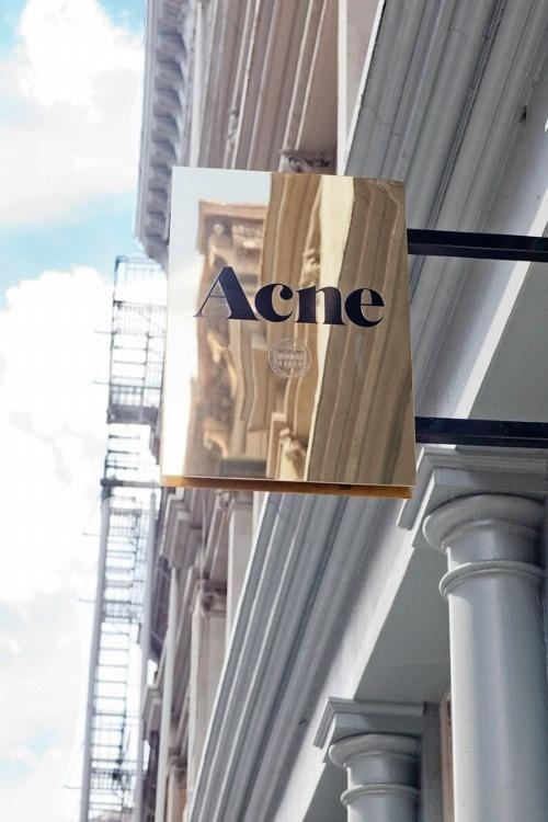 Acne Signage #signage #typography #sign