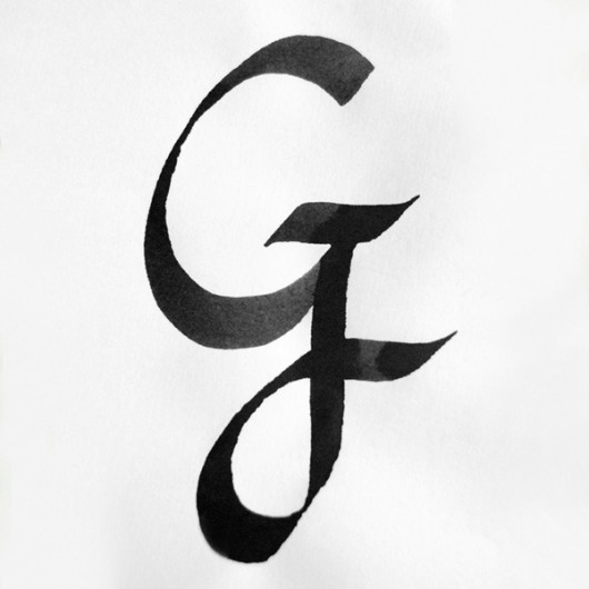 ALPHABATTLE – G — LetterCult #calligraphy #lettering #ink #typography