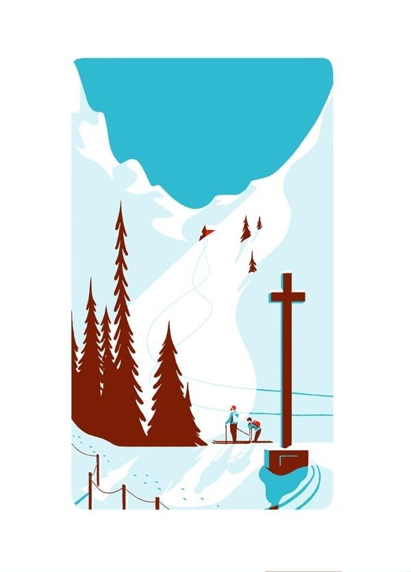 MOUNTAIN on Behance #skiing #illustration #mountain