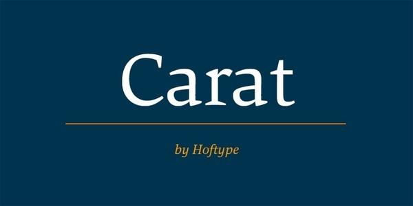 Carat #fonts #typeface