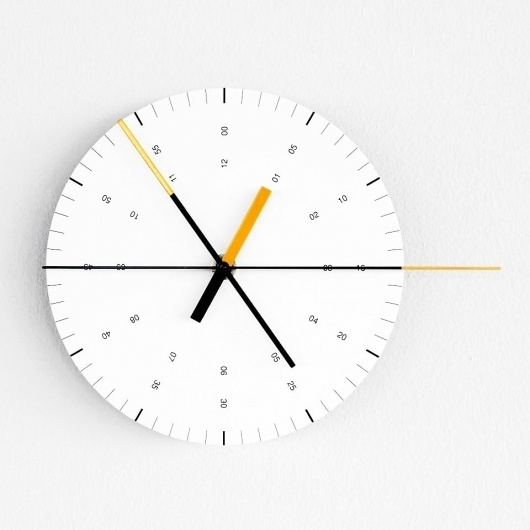 Wall Clock by Ordinary Purposes #design #clock #numbers