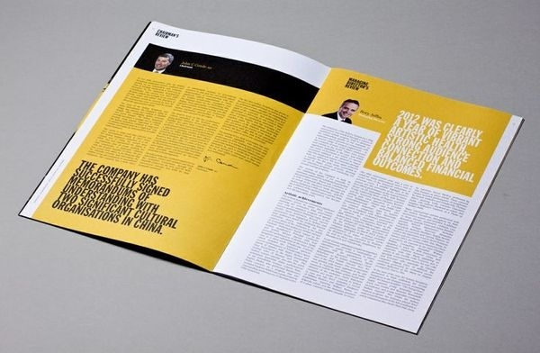 Sydney Symphony Annual Report 2012 Paul Berzekian #white #sydney #yellow #symphony #black #annual #report #typography