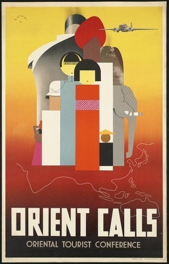 All sizes | Orient calls | Flickr - Photo Sharing! #travel #vintage #art #poster #orient #deco