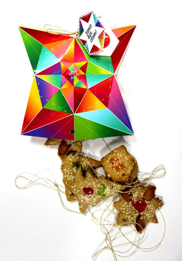 Festive packaging for Christmas cookies #packaging #creative #cookies