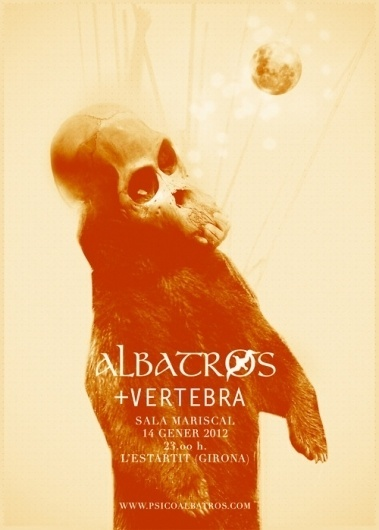 Gonsorama #desig #concert #albatros #music #skull #illustrtion #moon