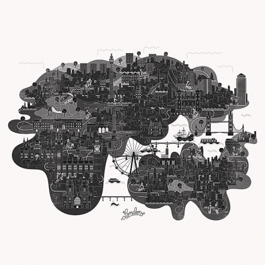 Vesa Sammalisto #london #illustration #map