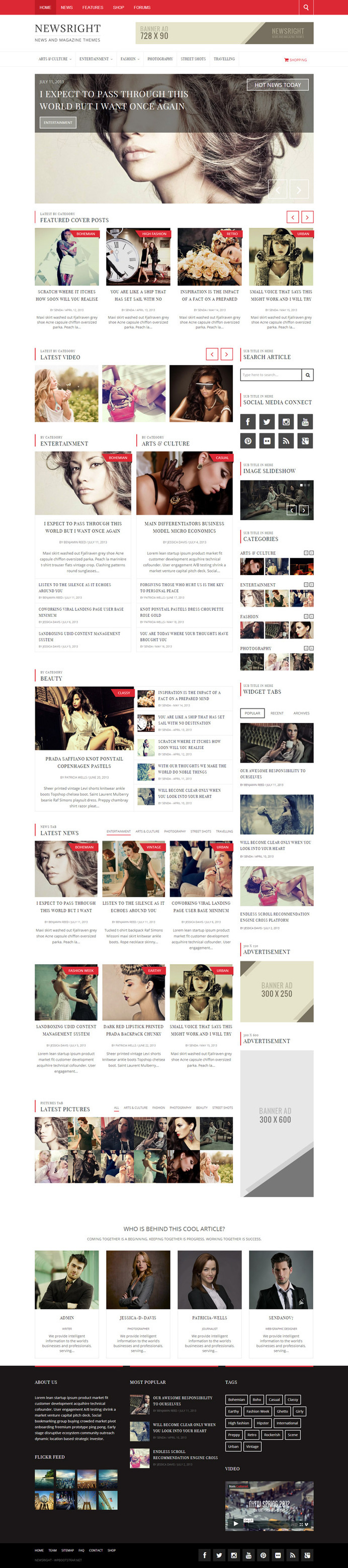 fashion, red, layout, concept #red #design #concept #fashion #layout #web #magazine