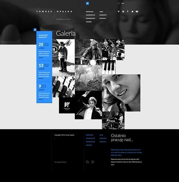 Tomasz Opalka Website Concept on Web Design Served #website