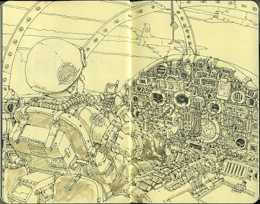 Moleskine Sketches by Mattias Adolfsson | Best Bookmarks #moleskine #sketch