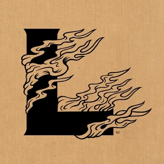 RyanFrease_L.jpg 600×600 pixels #flame #type #letter #fire