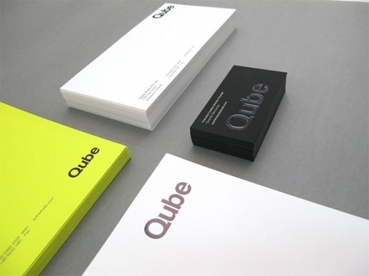 Qube Studio Business Card - FPO: For Print Only #branding #print #design #graphic #identity