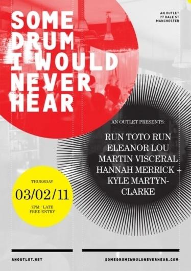 Some Drum I Would Never Hear #event #flyer #design #poste #poster #leaflet