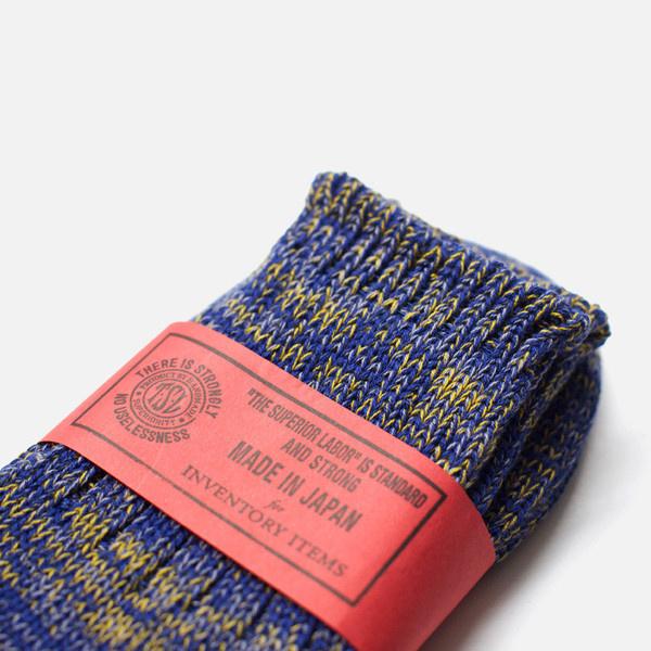 Inventory Item 011: Short Melange Socks Royal #packaging #stamp #label