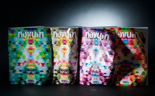 A Magazine Cover Inspired By Bucky Fuller Highlights The Feel Of Paper | Co.Design: business + innovation + design #design #graphic #novum #geometric #buckminster #fuller #magazine #paperlux
