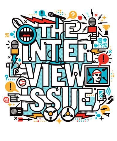 ESPN Interview Issue Matt Lehman Studio #lehman #matt #studio #typography