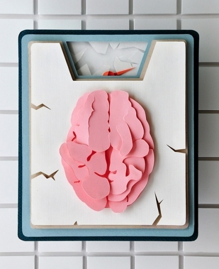 Medicine + Science Redesign: Paper Illustration | Flickr - Photo Sharing! #paper #brain