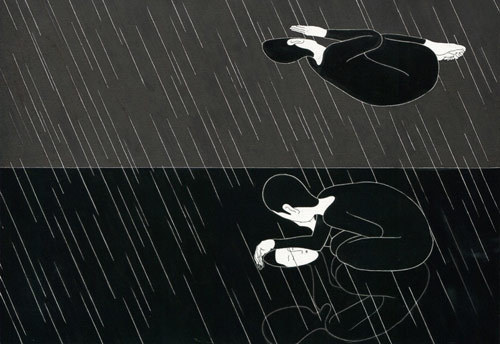 Drawings by artist Daehyun Kim Moonassi #white #black #drawn #and #hand