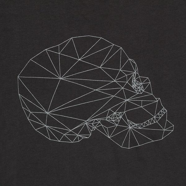 Koning Caveira Maculina Camisetas #skull #design #minimal #geometric