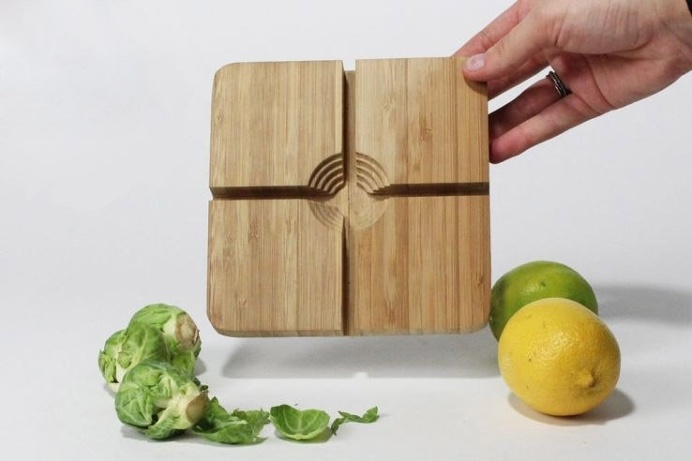 The B. Sprout 2000 is a cutting board created to save your fingers and make dicing difficult vegetables easy! #productdesign #industrialdesi